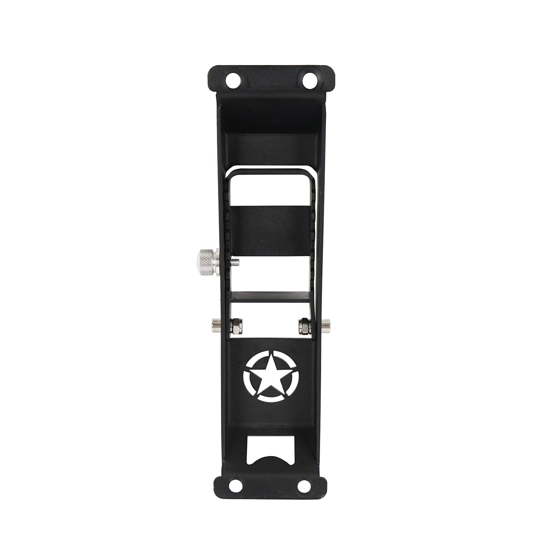 u-Box 4-Door Running Board Wide Drop Side Steps Nerf Bar Solid Steel for Jeep Wrangler JK Unlimited 2007-2018