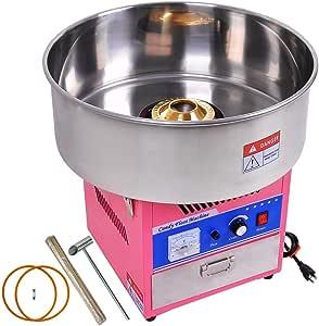 FOBUY 50cm 1050W Máquina de Algodón de Azúcar Acero Inoxidable Máquina Eléctrica para Hacer Algodón de Azúcar Cotton Candy Machine Commercial con cajó (Rosa): Amazon.es: Hogar