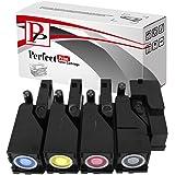 PerfectPrint Compatible Cartouche de toner de remplacement pour Dell 12501250C 13501350cnw 13551355cn 1355cnw C1760C1760nw C1765C1765nfw (Noir/cyan/magenta/jaune, 4-pack)