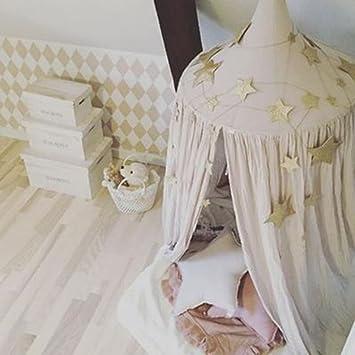 Himmelbett vorhang kinder  Baby Kinder Bett Himmelbett Vorhang rund Dome Aufhängen Mosquito ...
