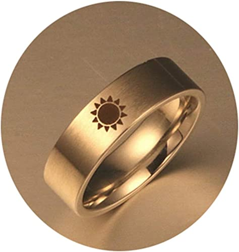 Epinki Stainless Steel Ring,I Will Always Be with You Couples Love Promise Ring Wedding Band