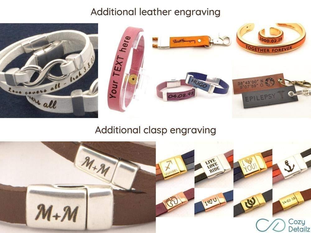 snaffle bit leather bracelet