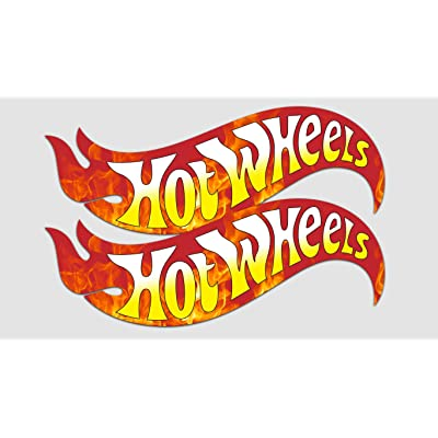 "GI Hot Wheels Decal Sticker Vinyl | Set of 2 | Car Racing Lovers | Cars Laptops Walls | Premium Quality | 5"" x 2"": Automotive"