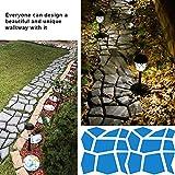 "CJGQ 13.4""x13.4""x1.42"" Walk Maker Reusable Concrete Path Maker Molds Stepping Stone Paver Lawn Patio Yard Garden DIY Walkway Pavement Paving Moulds"