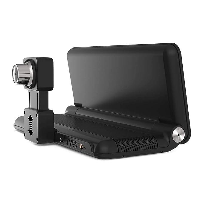 TOOGOO 8 Pulgadas Pantalla Táctil 1080P Tablero Plegable 4G Coche Dvr WiFi Bluetooth Navegacion GPS De Lente Doble Grabadora 781 con Cámara Trasera: ...