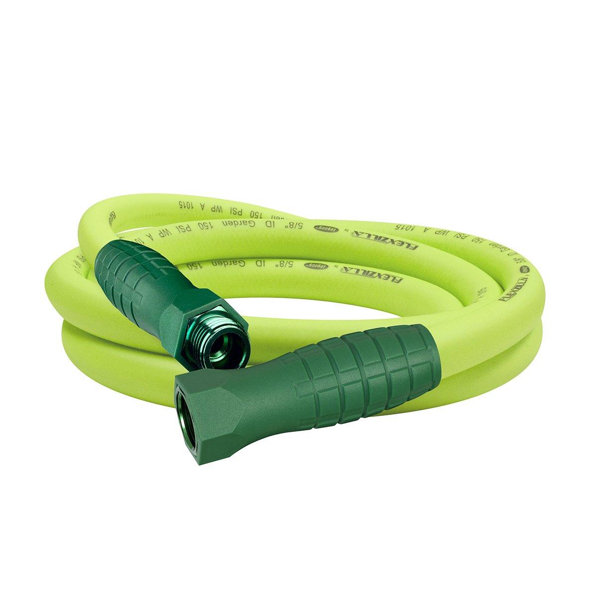 Flexzilla Garden Lead-in Hose with SwivelGrip, 5/8 in. x 10 ft, Heavy Duty, Lightweight, Drinking Water Safe - HFZG510YWS