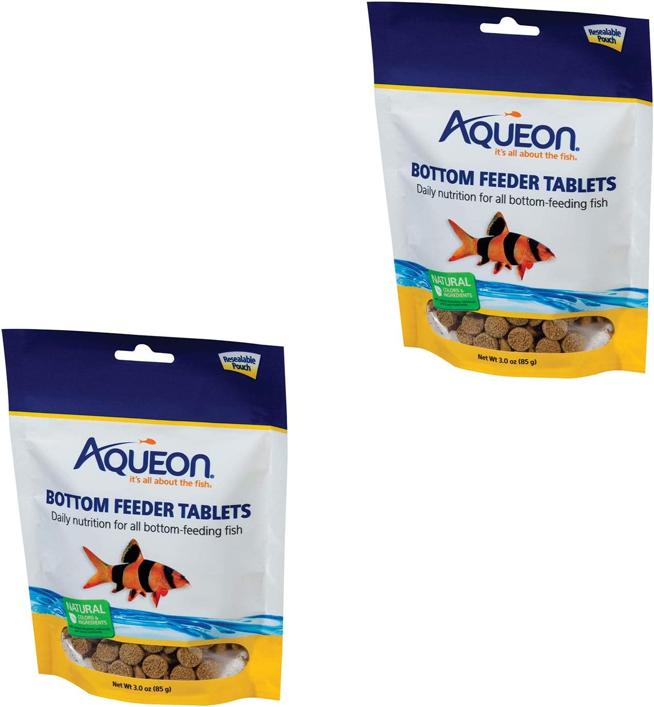 2-PACK Bottom Feeder Fish Food Tablets, 3-Ounce Pouch