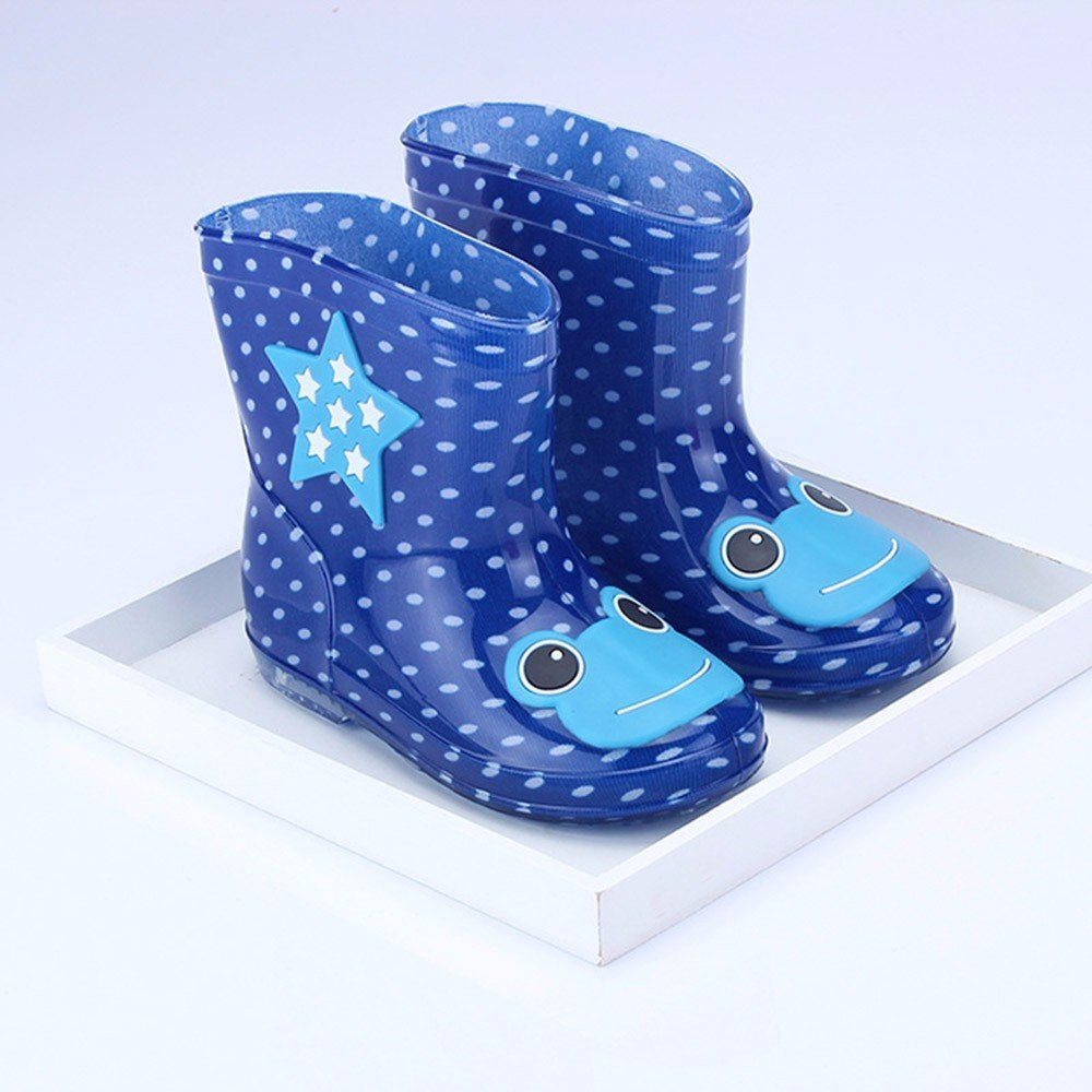 Lurryly❤Waterproof Child Animal Rubber Baby Kids Rain Boots Shoes Toddler//Little Kid