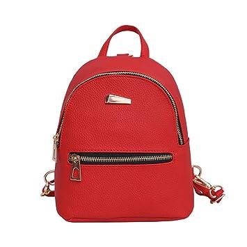 Mochila, Manadlian Mochila nueva para mujer Bolso de viaje Mochila escolar (19cm*17cm*12cm, Rojo): Amazon.es: Hogar