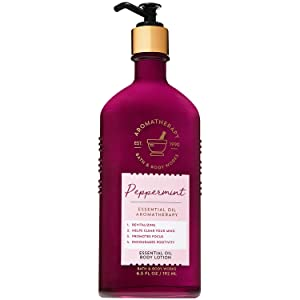 Bath and Body Works Aromatherapy PEPPERMINT Essential Oil Body Lotion 6.5 Fluid Ounce