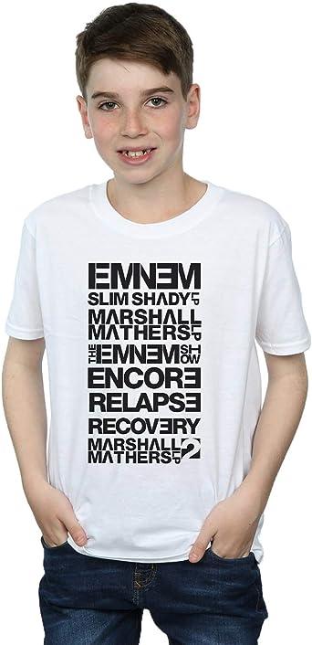 Absolute Cult Eminem Niños Slim Shady Album Titles Camiseta