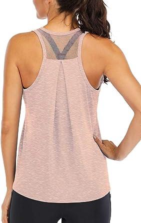 Womens Workout Racerback Tank Tops Loose Fit Long Plus Size Yoga Running Flowy Racerback Tank Tops