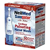 NeilMed Sinugator Cordless Pulsating Nasal Wash with 30 Premixed Sachets by NeilMed