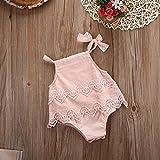 Newborn Baby Girl Infant Romper Jumpsuit Bodysuit