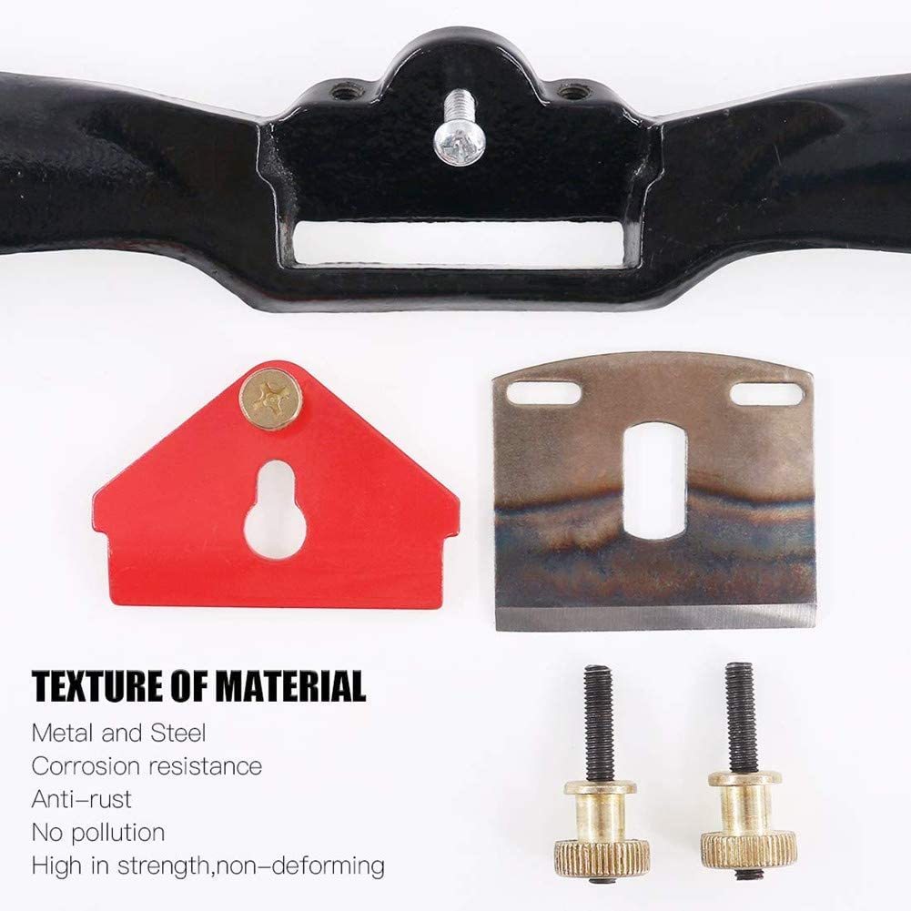Wood Working 10 Adjustable Spokeshave Plane with Flat Base and Metal Blade Spokeshave Wood Working Wood Craft Hand Tool for Wood Craver