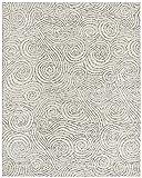 Rivet Modern Gust Swirled Rug, 7'6'' x 9'6'', Grey
