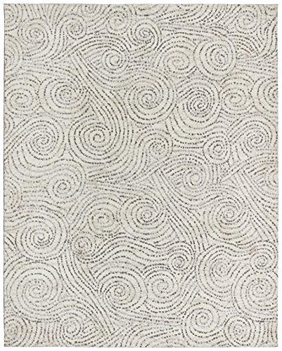 Rivet Modern Gust Swirled Rug, 7'6'' x 9'6'', Grey by Rivet