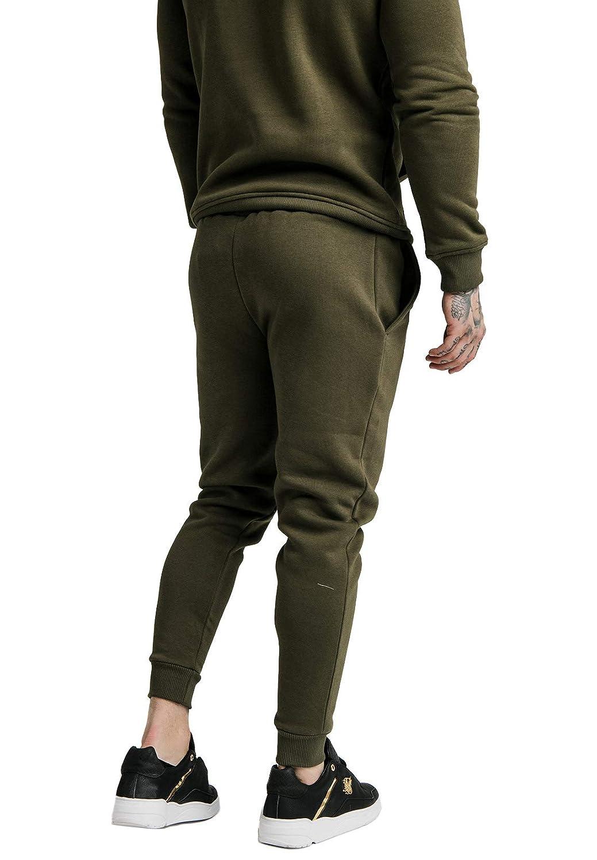 Pantalon Siksilk Core Muscle Fit Jogger Khaki: Amazon.es: Ropa y ...