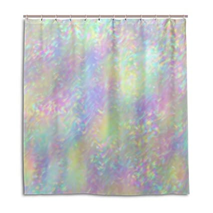 Top Carpenter Iridescent Holographic Bath Shower Curtain Liners