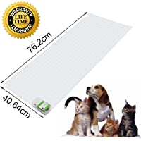 Scat Mat, Pet Training Mat, Pet Repellent Mat, Pet Shock Mat, Indoor Pet Deterrent Device, 3 Levels Shocking Safety Pad for Pets Stay Off Sofa, Kitchen Counters, Furniture, Off-Limit Areas, 40.6x76.2cm, Safety Protect