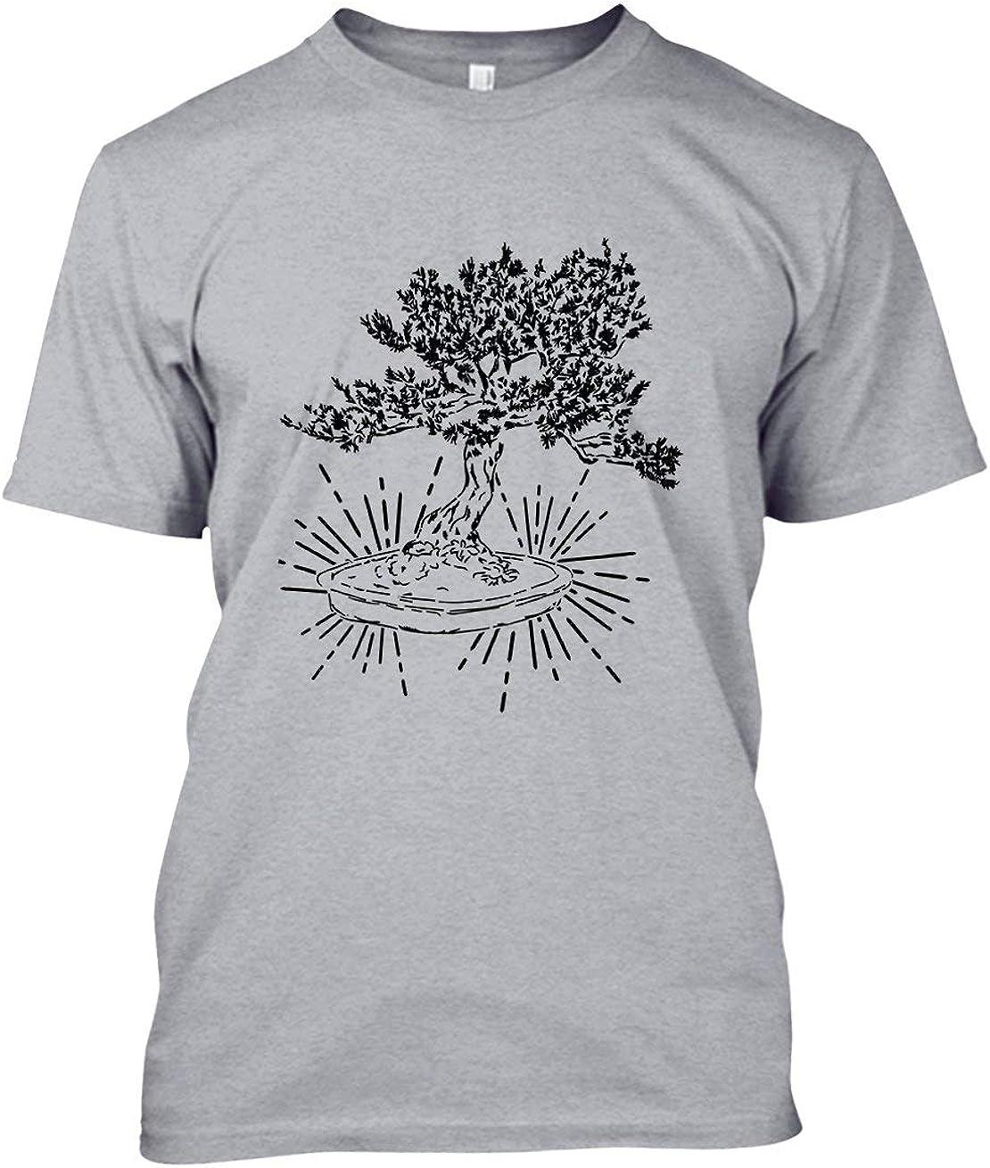 Amazon Com See Black Bonsai Tree Mens Shirt T Shirts Gift For Women Clothing