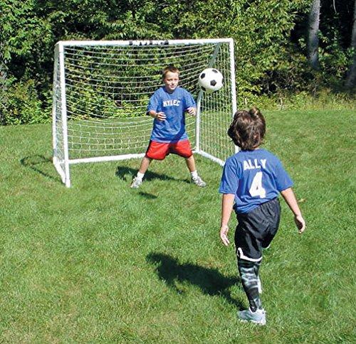 "Mylec Deluxe Soccer Goal, White, 72""L x 60""W x 48""H"