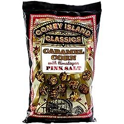 Coney Island Classics Himalayan Pink Salt Caramel Corn Gluten Free Non GMO Popcorn 12 Oz Large Bag (12 Count)