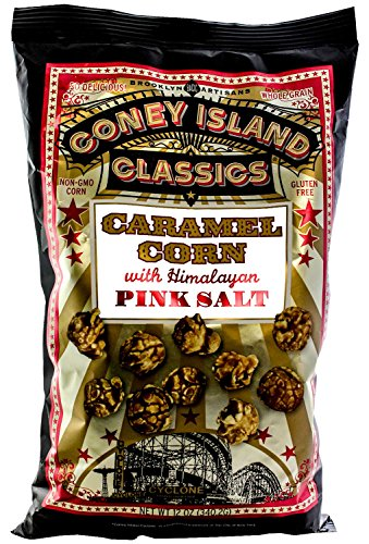 Coney Island Classics Himalayan Pink Salt Caramel Corn Gluten Free Non GMO Popcorn 12 Oz Large Bag (12 - Delivery Day B&q Next