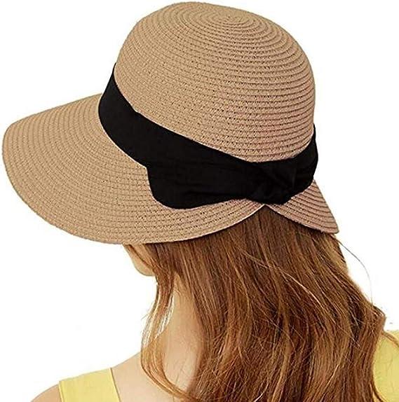 Dlife Women Summer Casual Stylish Sun Hat Straw Beach Braided Sunshade  Straw Hat (Dark Brown): Amazon.ca: Clothing & Accessories