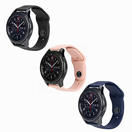 e7d1b06a1 Aifulo Watch Bands Compatible with Samsung S3 Sport Smart Fitness Wristband  Compatible with Samsung Galaxy Gear