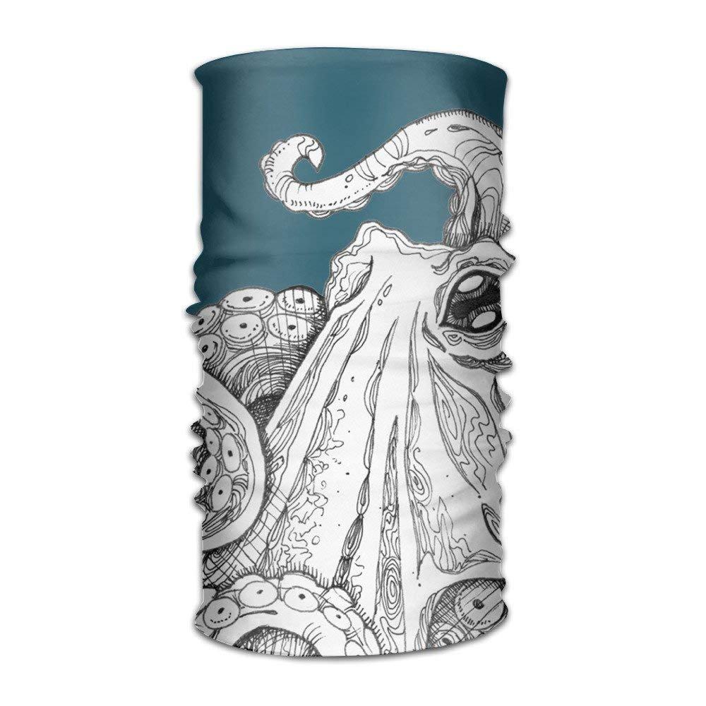 Teal Octopus Multifunctional Magic Headwear 12-in-1 Men/&Women Tube Scarf Facemask Headbands Neck Gaiter Bandana Balaclava Helmet for Outdoor Running Yoga Work Out
