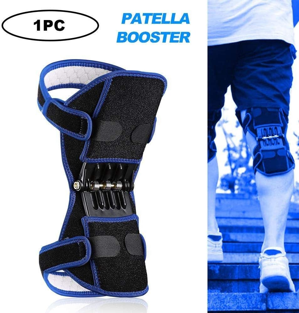 NTMD Knee Booster Knee Power Spring Force Stabilizer Joint Support Knee Pads Breathable Non-Slip Power Lift Joint Support Powerful Rebound Knee Brace Spring Force Knee Booster-1Pc Color : 2pcs