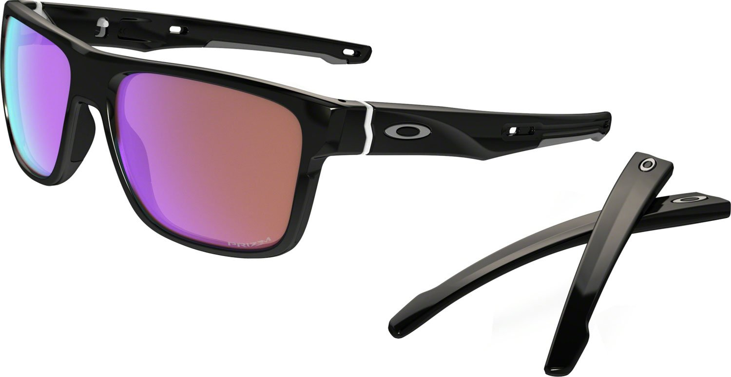 Oakley Men's Crossrange (a) Square Sunglasses, Polished Black, 57 mm