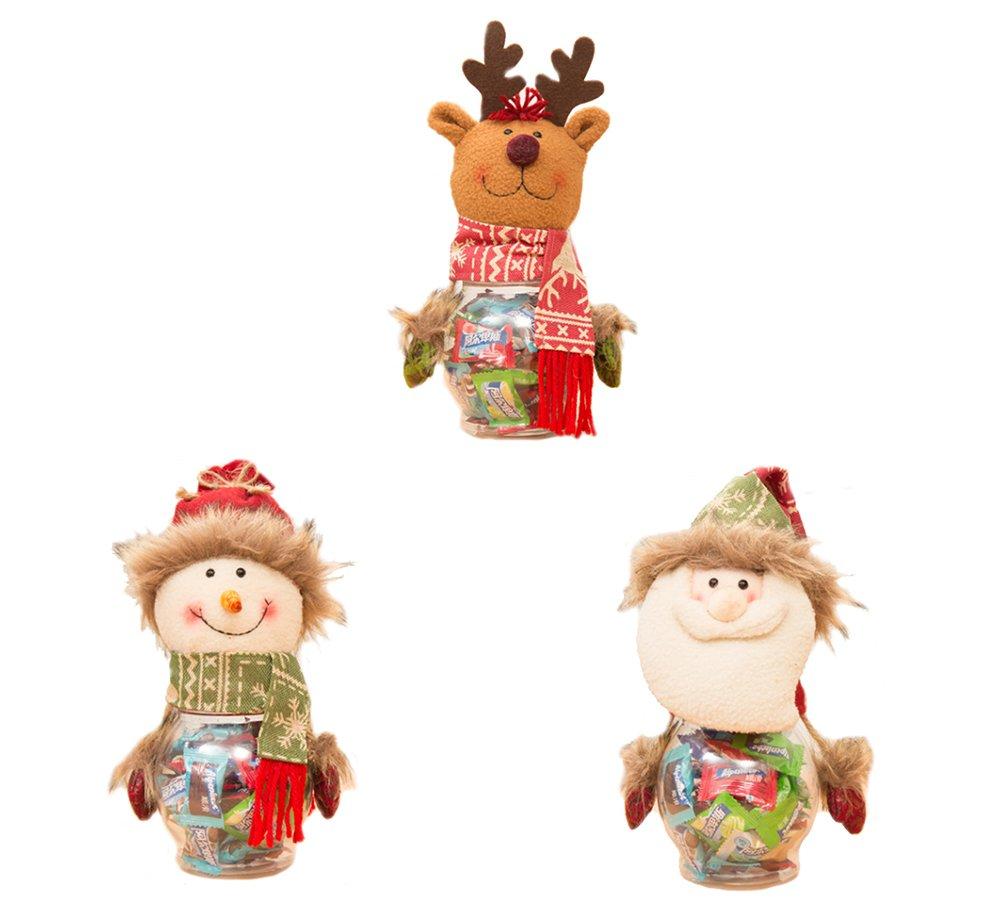 AprilElst 3 piezas dulces de Navidad macetas Paño de Navidad ...
