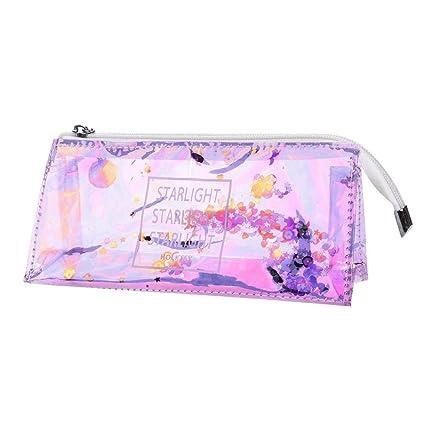 7fc0f02566a4 Amazon.com: KFSO Transparent Pencil Pen Case,Colorful Sequin Clear ...