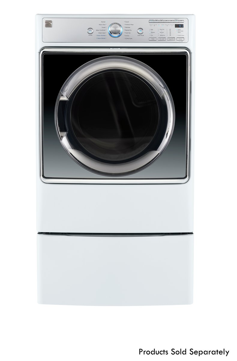 Kenmore Smart 91982 9.0 cu. ft. Gas Dryer with Accela Steam Technology in White - Compatible with Amazon Alexa, includes delivery and hookup (Available in select cities only) by Kenmore (Image #2)
