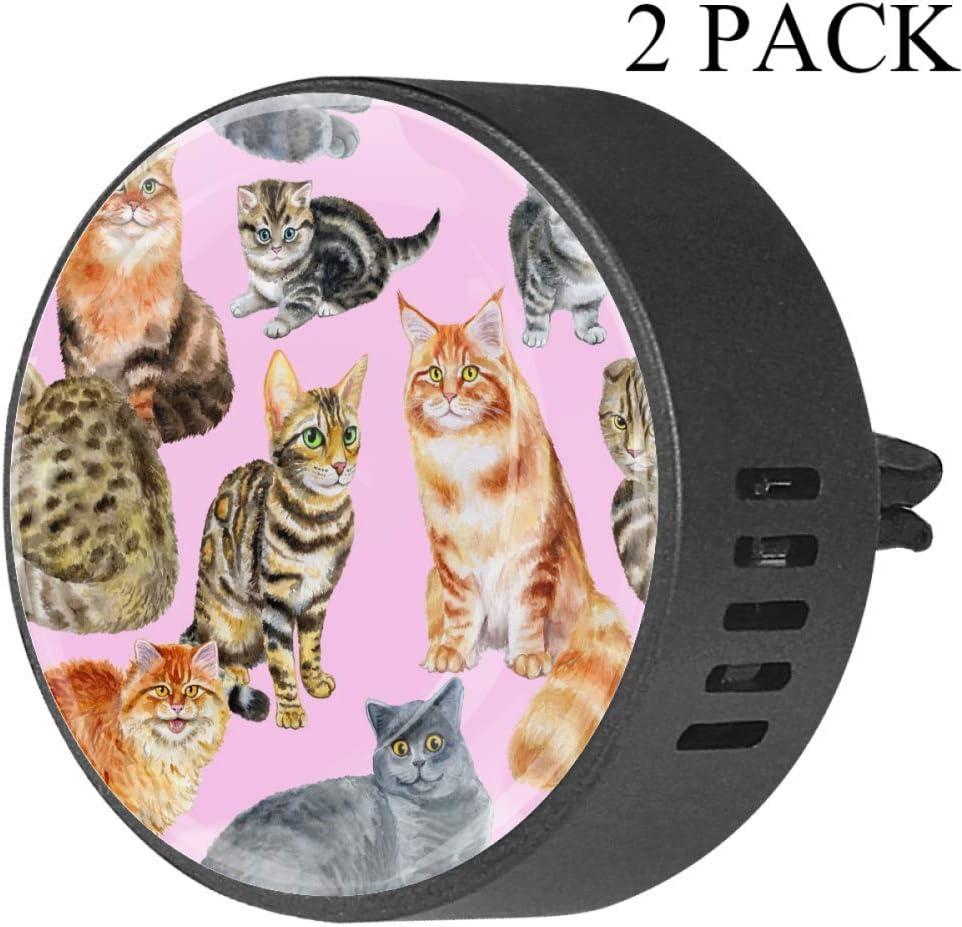 Amazon.es: Ambientador para Coche con diseño de Gatos británicos con Forma de Gato felino, de Goma EVA, difusor de aceites Esenciales, Aroma a Fruta de la pasión