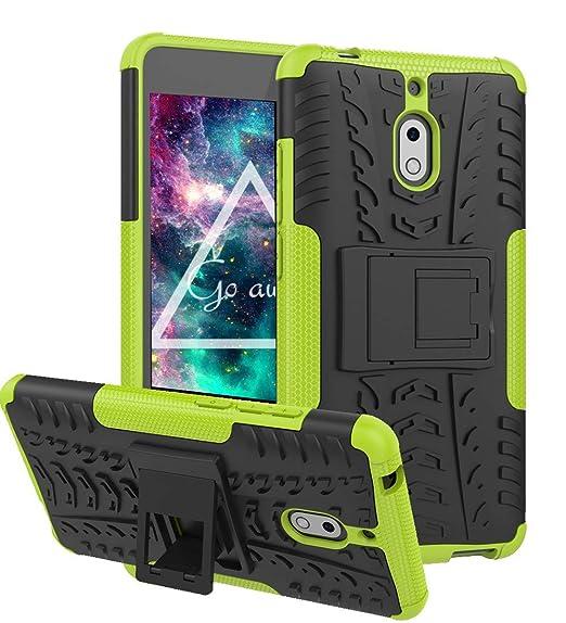 Compatible for Nokia 2V Case, Nokia 2 V Case, Boythink Double-Layer Hybrid Shock Resistant Armor with Kickstand Protective Case for Nokia 2V / Nokia ...