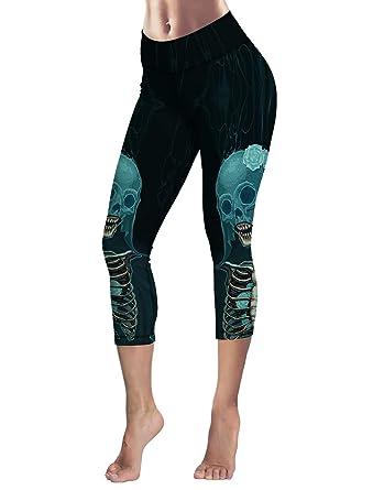 d4ca150270ba4 Image Unavailable. Image not available for. Color: Women Leggings 3D Design  Yoga Pants Workout Capris Skeleton Bride