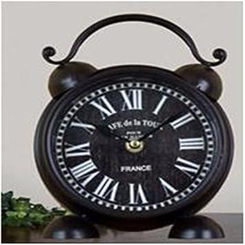 retro Europea hacer los relojes de silencio creativo reloj viejo estilo de la cámara salón dormitorio reloj de mesa decorativo, B: Amazon.es: Hogar