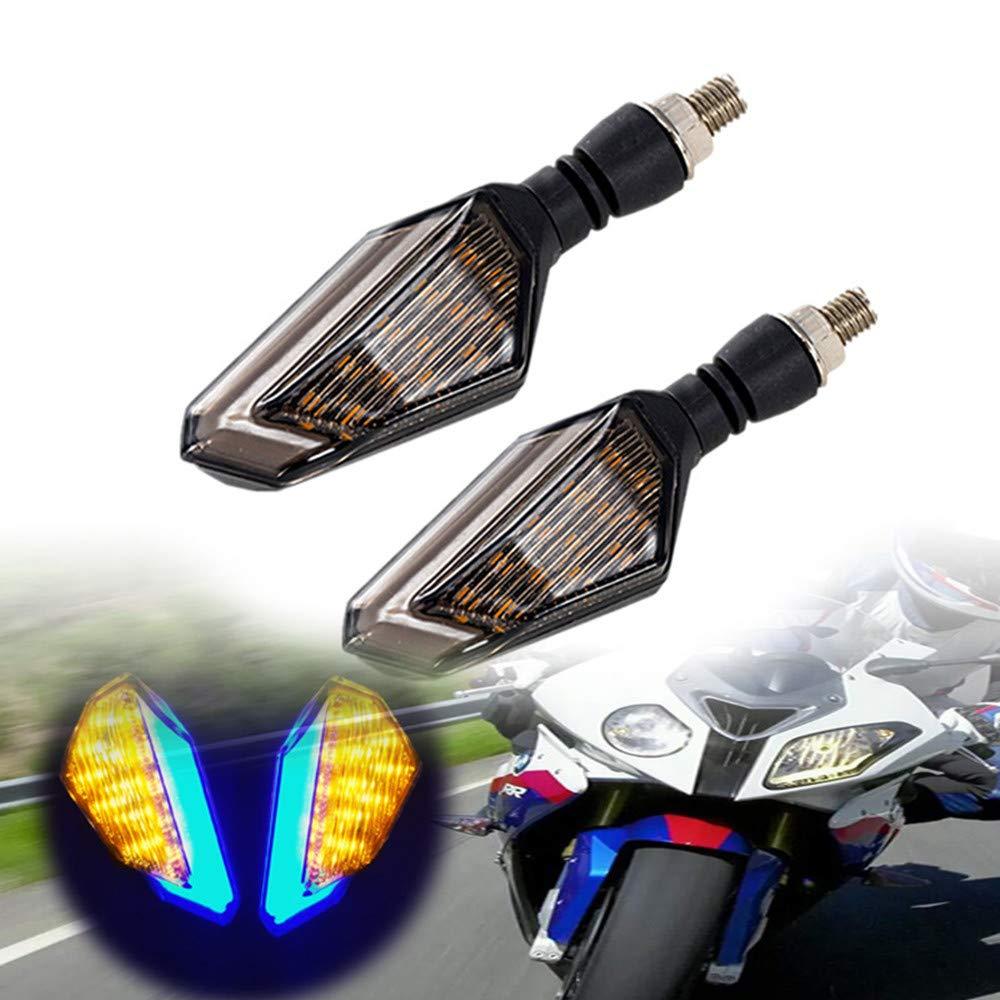 FEZZ Intermitentes LED Moto Yamaha Universal /ámbar Pack of 2 Intermitentes Moto Homologados para Motocicleta Bicicleta /Ámbar+azul