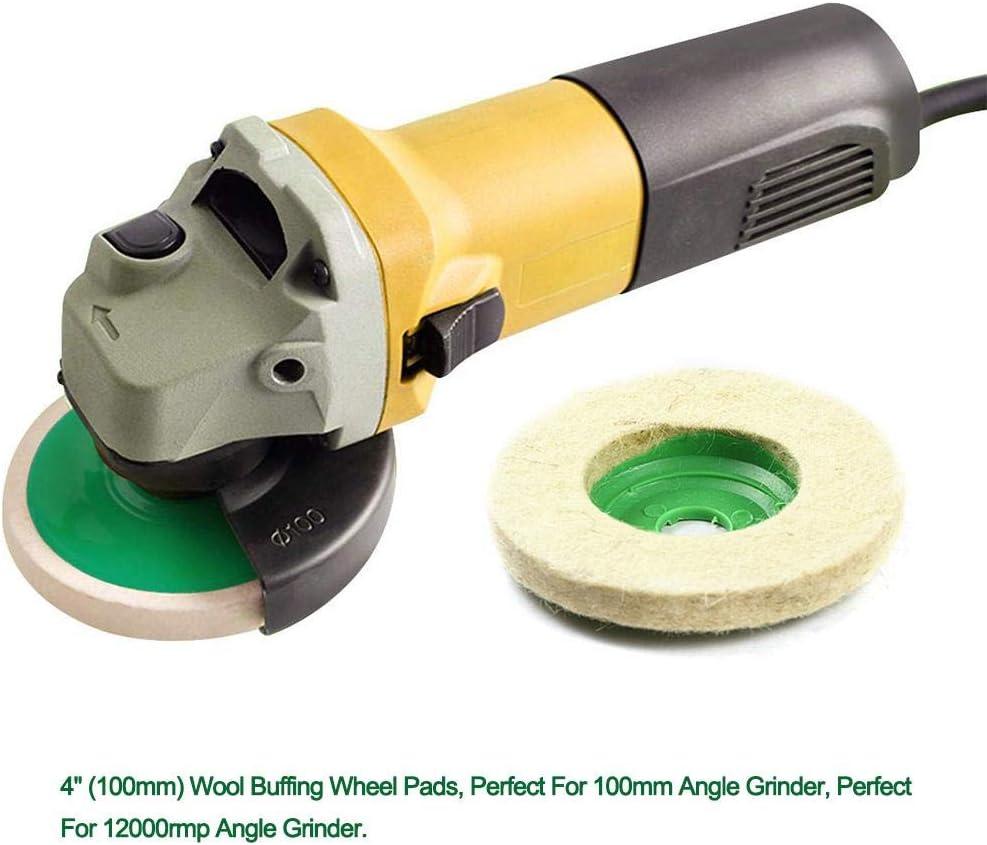 5 pi/èces poly bande de roue disque poly bande de meulage roue de polissage peinture outil d/élimination de la rouille pour meuleuses dange 100mm