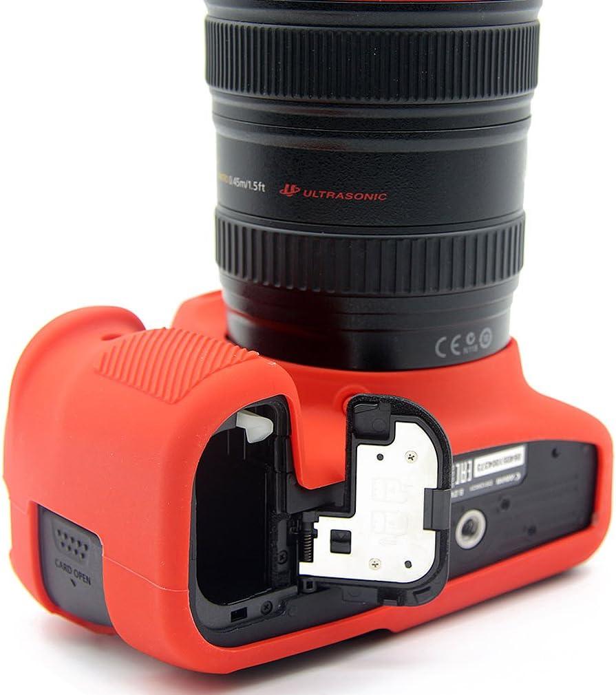 First2savvv verde corpo pieno misura precisa TPU gomma custodia per fotocamera per Canon EOS 6D Mark II 6D MK II Panno di pulizia XJPT-6D Mark II-GJ-06G11