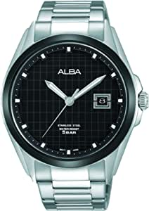 Alba Watch For Men - Casual Watch/Silver, Stainless Steel - As9C77X1