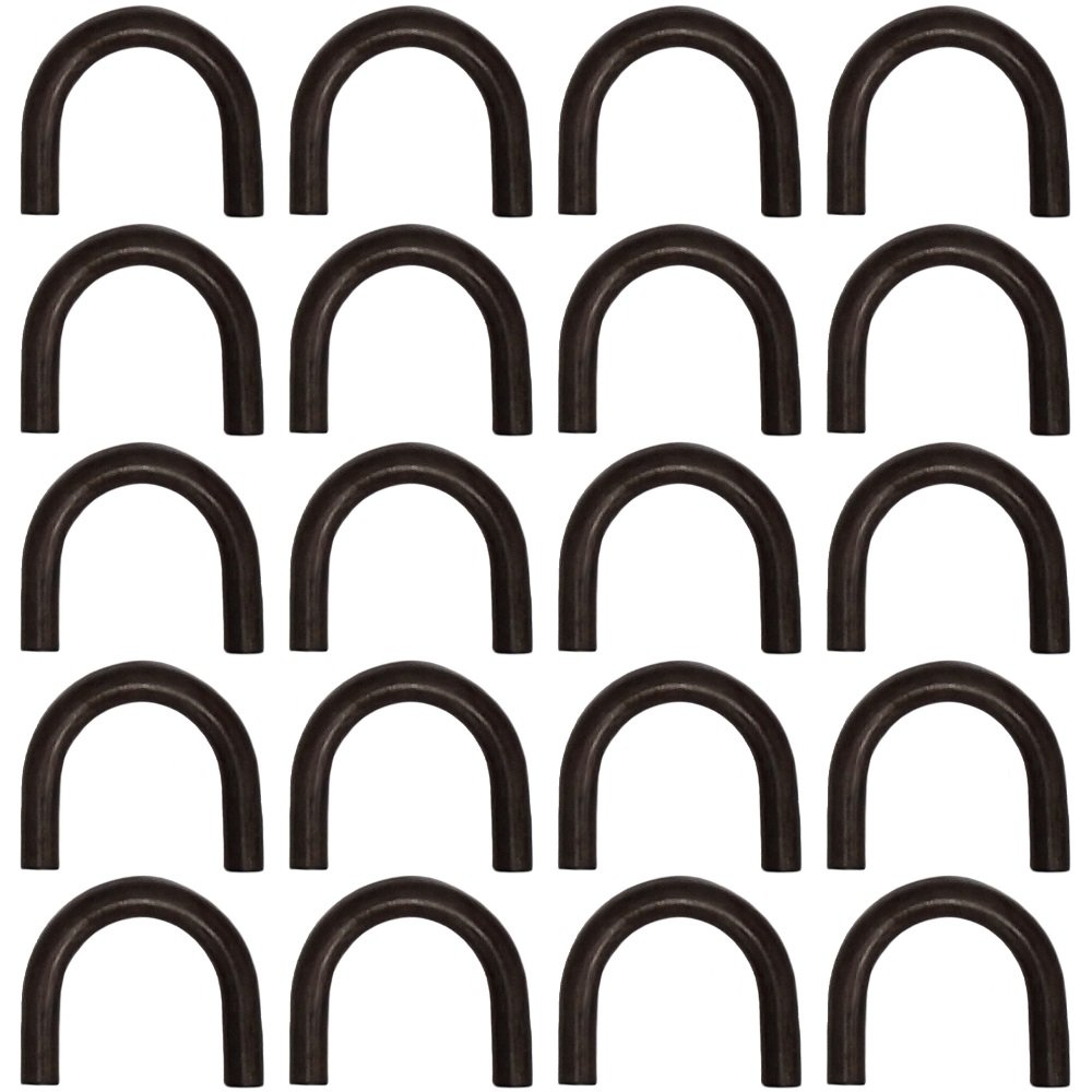 (20) 1/2'' Thick Weld On Steel D-Ring Loops Rope Chain Tie Downs