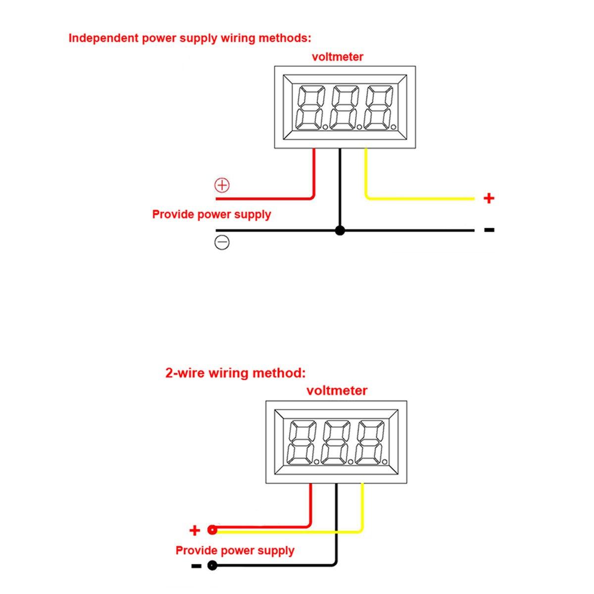 12 Volt Digital Voltmeter Drok 056 Dc 3 30v 12v Voltage Tester Meter Wiring Diagram Gauge Green