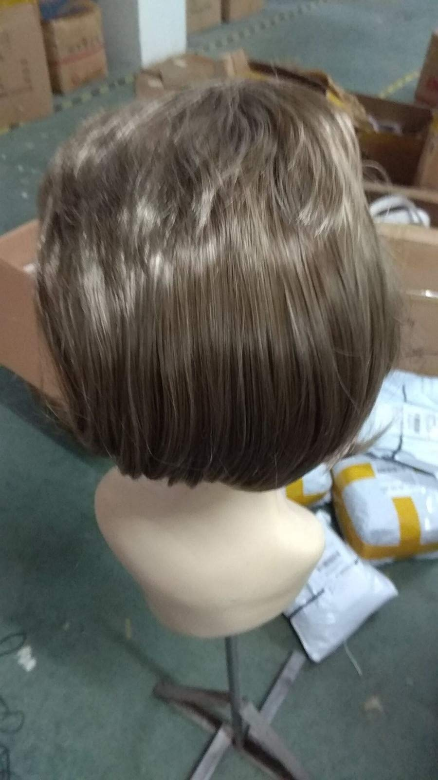 Wigs For Black Women 2019 Men Fashion Brown Short Hair Wig Perfect Carnivals Party Cosplay Festival by BOLUOYI (Image #8)