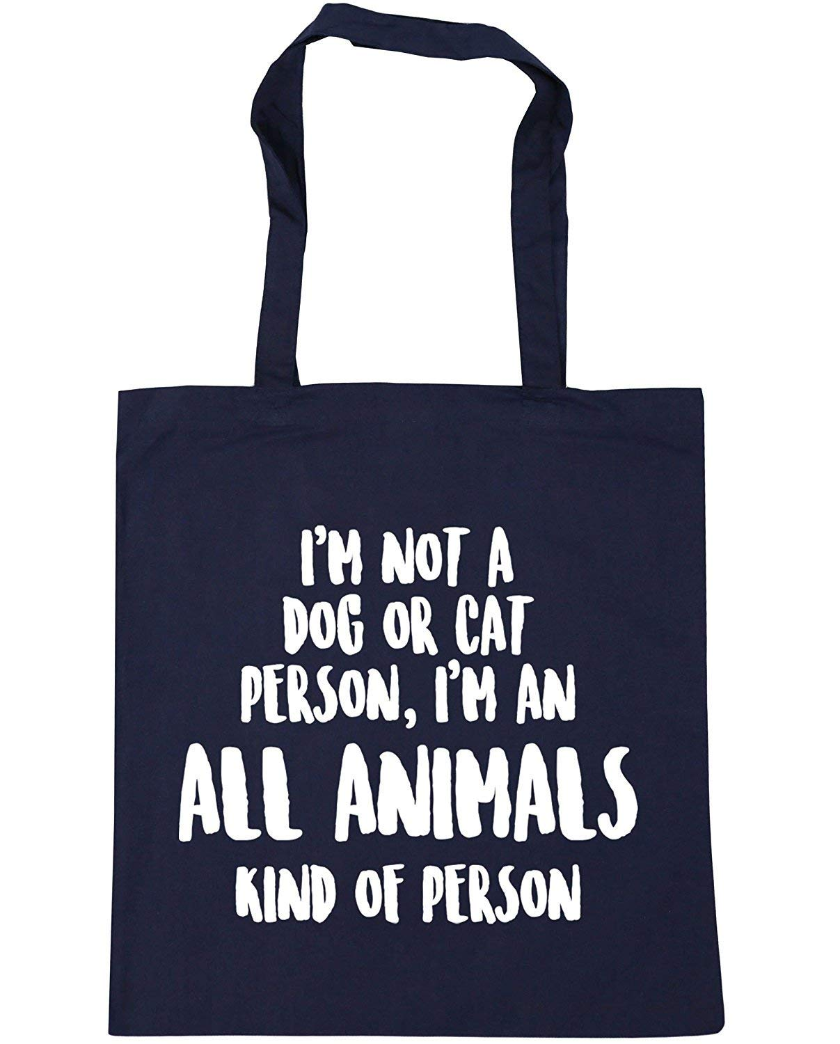 WENNUNA Im Not a Dog or Cat Kind of Person Im an All Animals Kind of Person Tote Shopping Gym Beach Bag