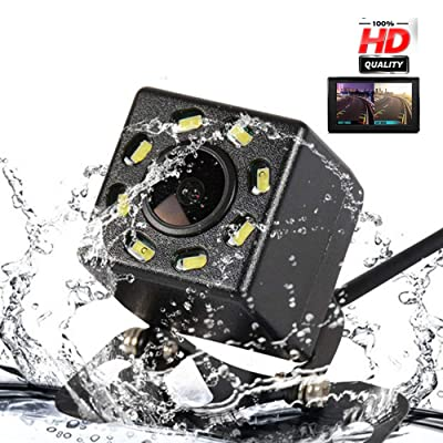 Mini Rearview Vehicle Backup Camera for All Cars, 8 LED Nigh Vision Lights 170º, Waterproof IP68: Car Electronics