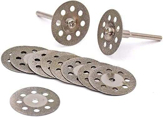 Double Sided Diamond Cutting Discs Rotary Saw Blades Set 10 Pcs HOT SALE